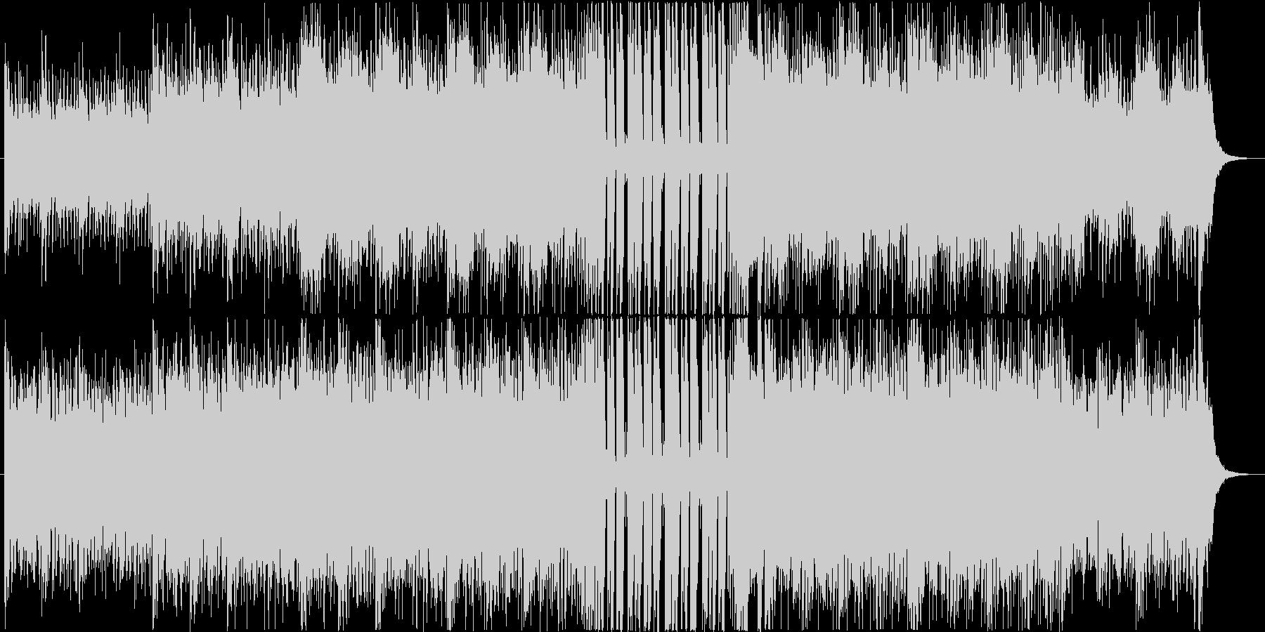 爽やかなサーフ系ギターロック・ポップスの未再生の波形
