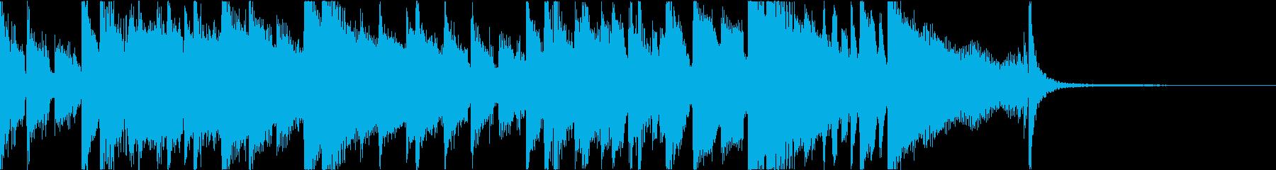 大人な雰囲気のジャズブルースジングルの再生済みの波形