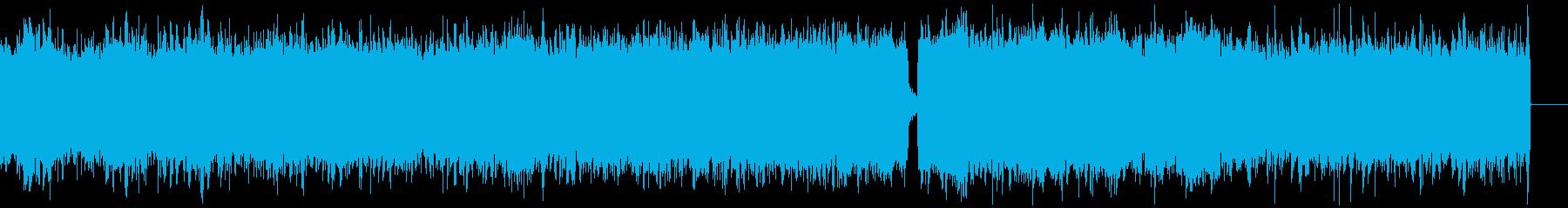 シネマティックホラー、ハロウィンBGMの再生済みの波形