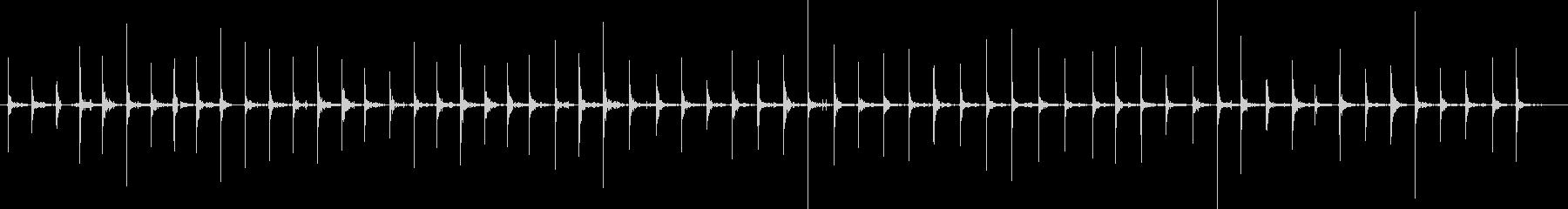 バイノーラル足音歩1スニーカー女性足もとの未再生の波形