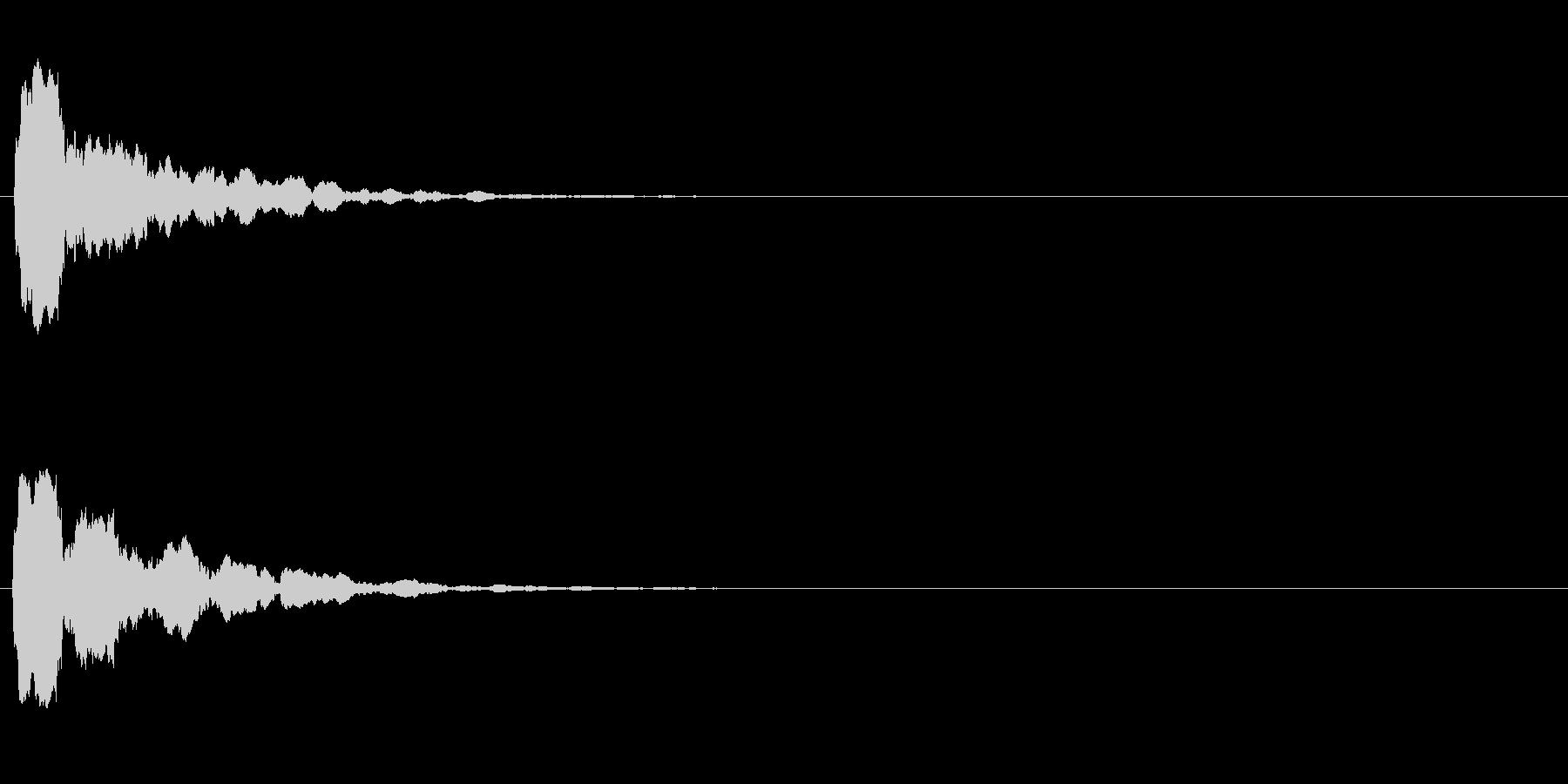 汎用 UI/決定/セレクト ピッ 反響音の未再生の波形