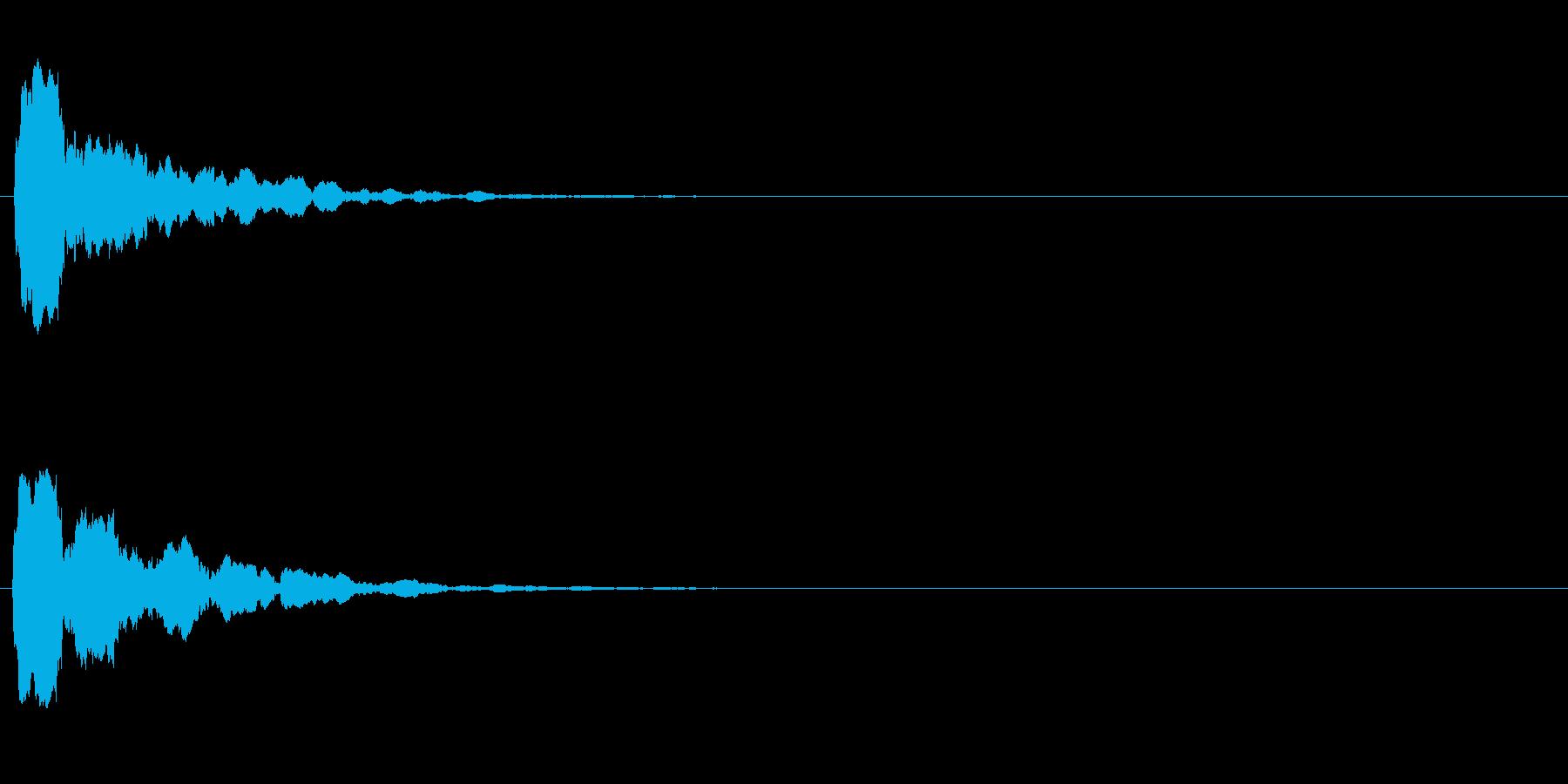 汎用 UI/決定/セレクト ピッ 反響音の再生済みの波形