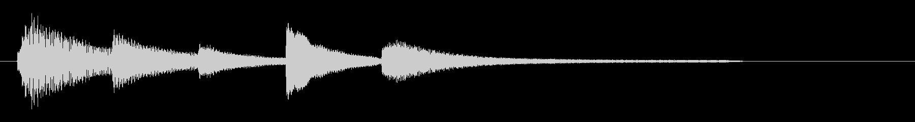 サウンドロゴ(ピアノ・しっとり)の未再生の波形
