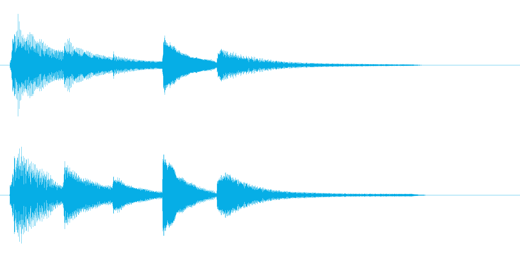 サウンドロゴ(ピアノ・しっとり)の再生済みの波形