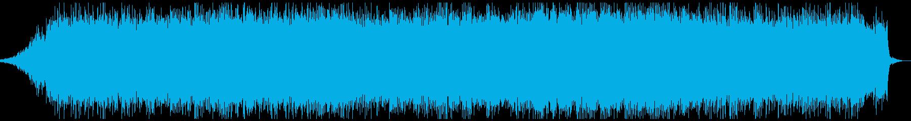 ピアノやシンセサイザーのアンビエントの再生済みの波形