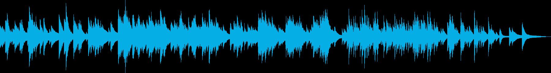 絶望のピアノ曲(暗い・悲しい・重い)の再生済みの波形