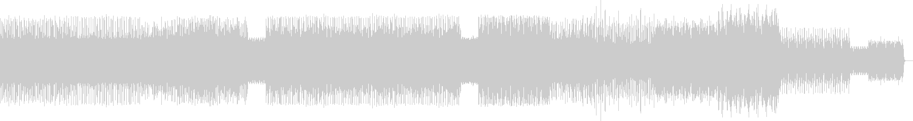 アップテンポクラブ音楽マスタリングverの未再生の波形