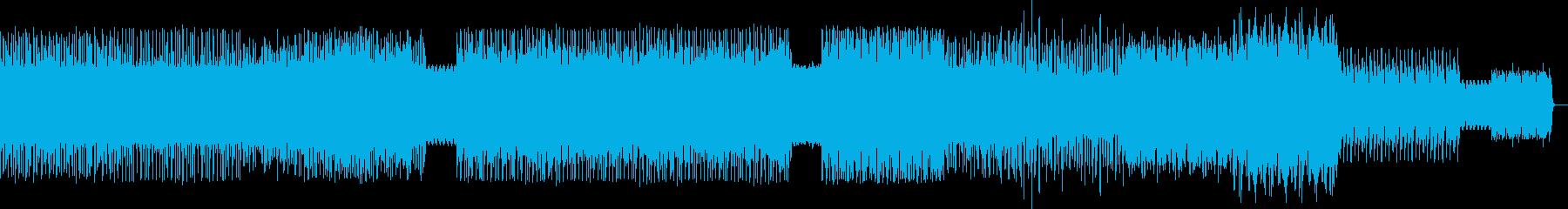 アップテンポクラブ音楽マスタリングverの再生済みの波形