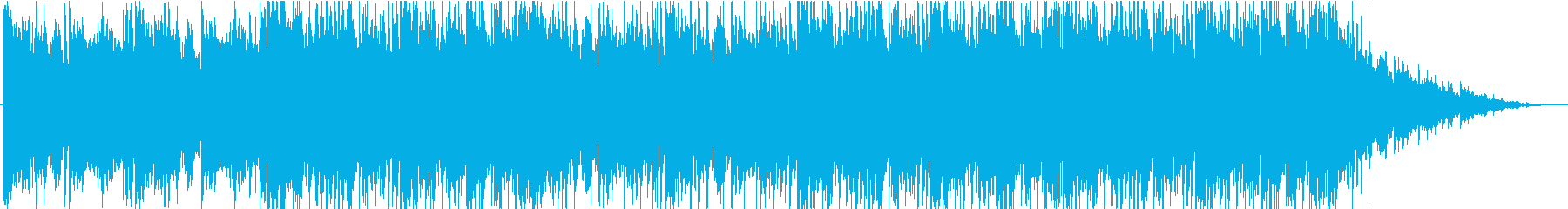 寂しく孤独な雰囲気のBGMの再生済みの波形