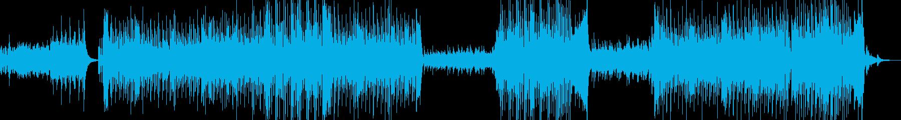 Latin BGM based on flamenco rhythm's reproduced waveform
