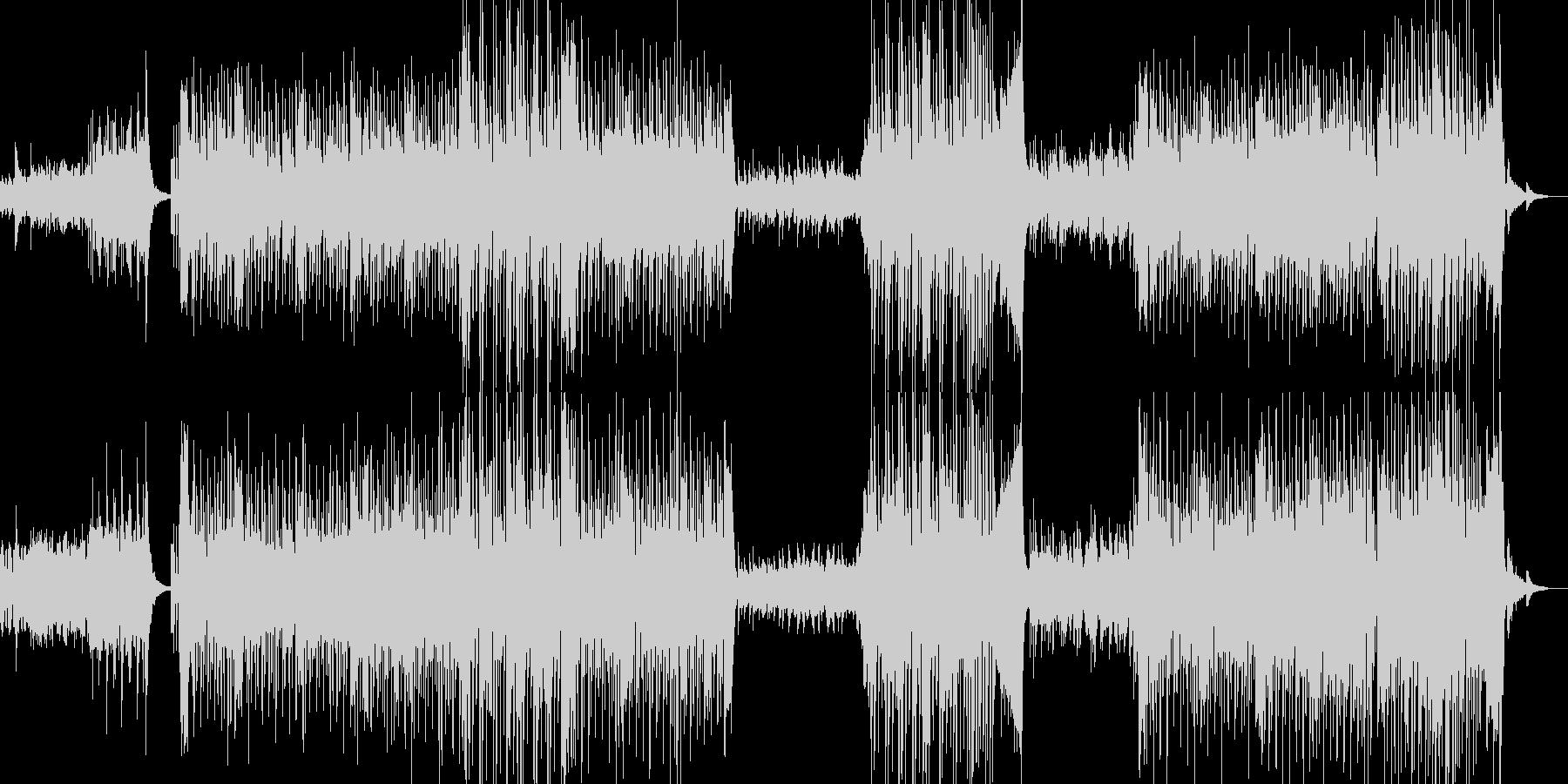 フラメンコリズムを基調としたラテンBGMの未再生の波形