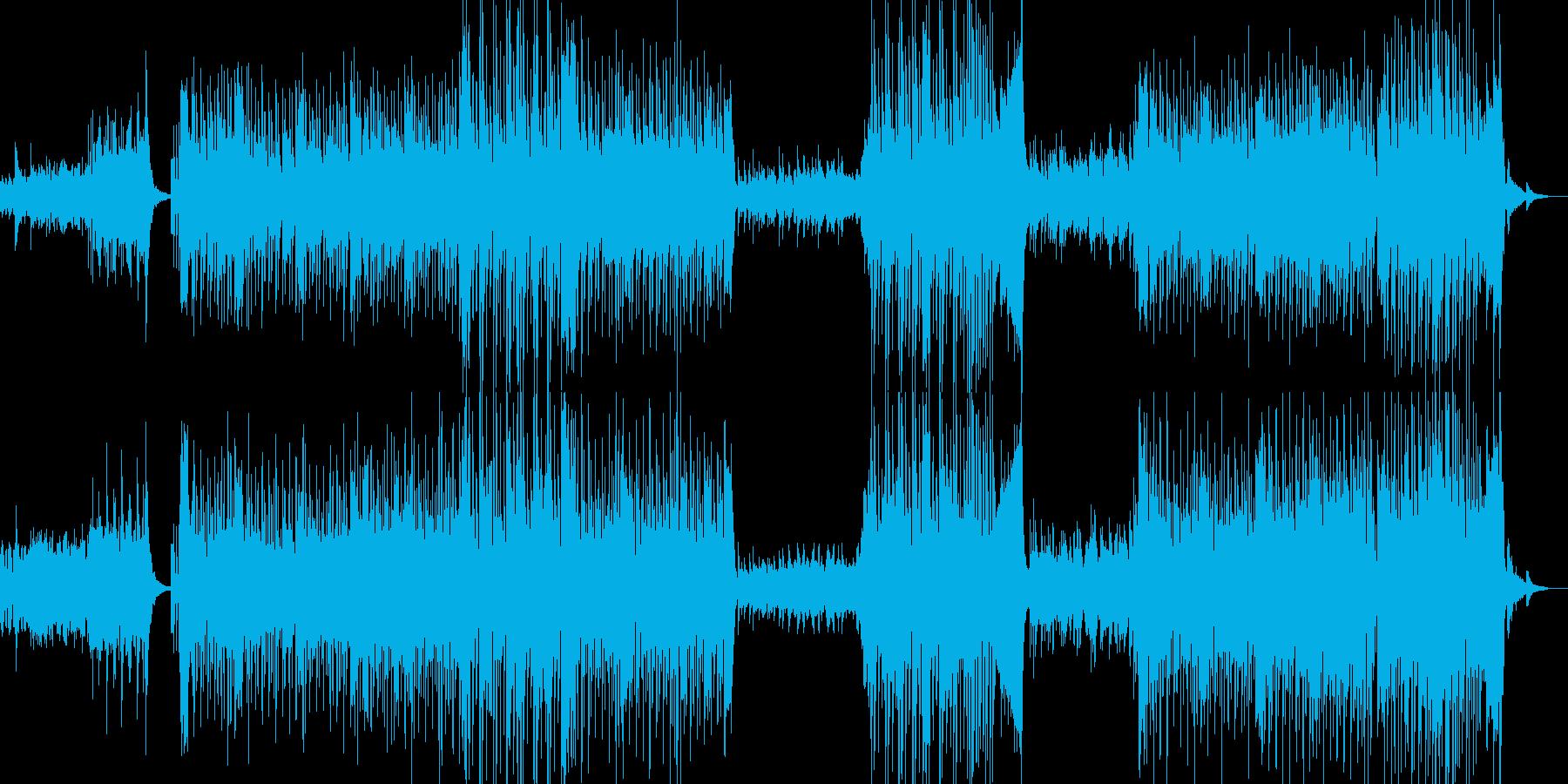 フラメンコリズムを基調としたラテンBGMの再生済みの波形