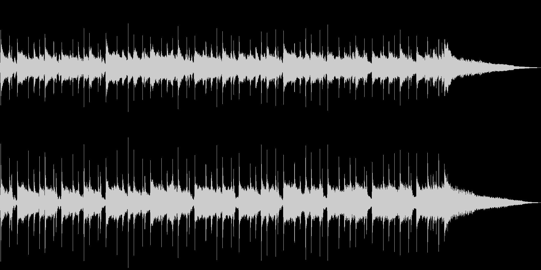 マンドリンとアコギの軽快なリズムの未再生の波形