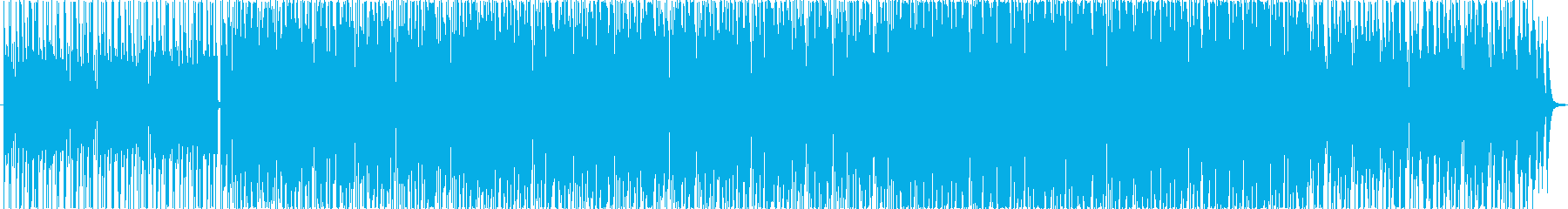 リズミックなエレキギターがメインのBGMの再生済みの波形