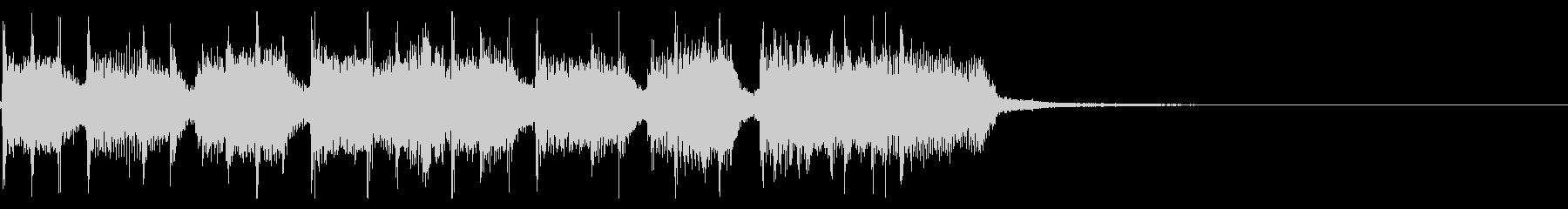 インパクトあるロックなジングル23の未再生の波形