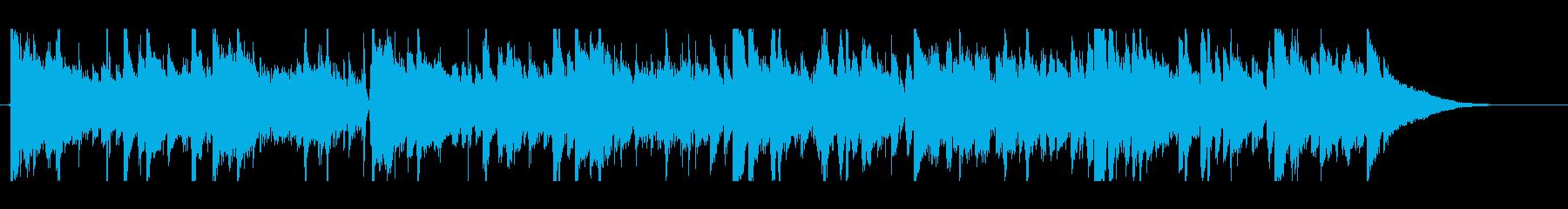 生録音アコギのエレクトロニカ系トラックの再生済みの波形