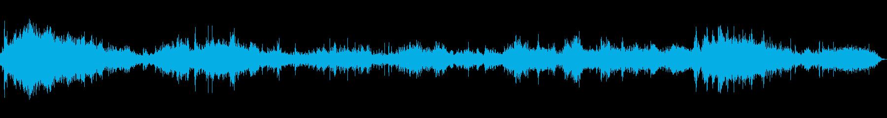 大きな近くの水のしぶきswishの再生済みの波形