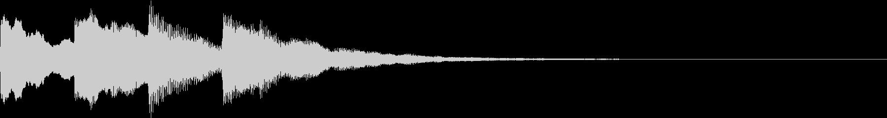 アナウンスの終了音 01の未再生の波形