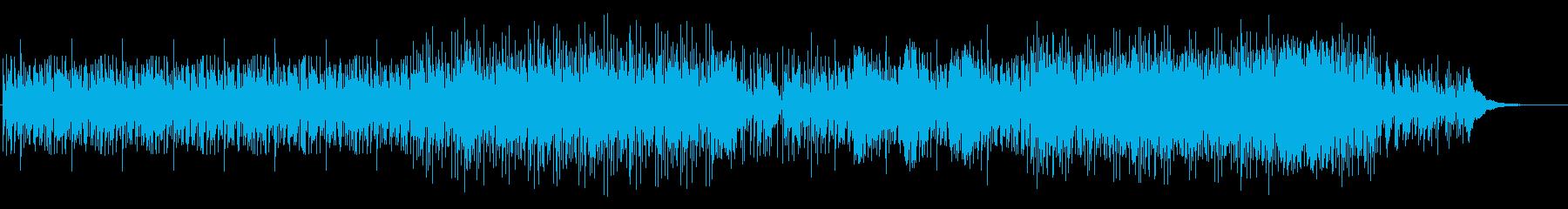 謎めいたエスニックドラムの再生済みの波形
