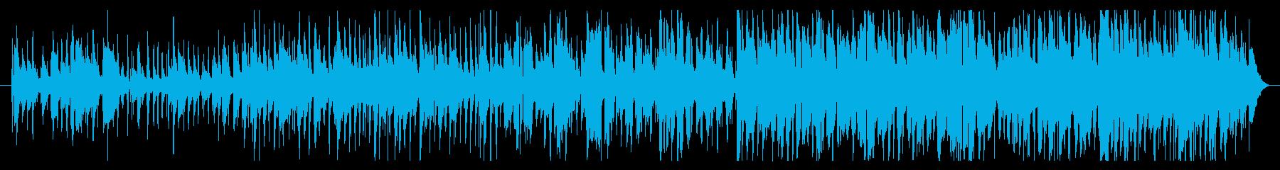 お洒落なトランペットとピアノジャズの曲の再生済みの波形
