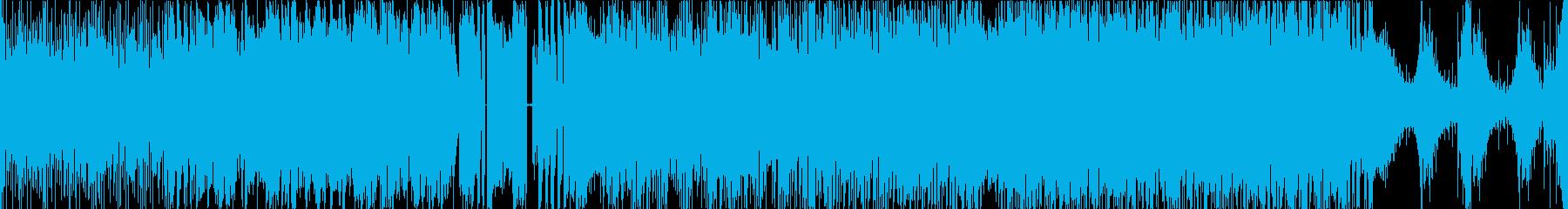 緊迫感あるEDMロックの再生済みの波形