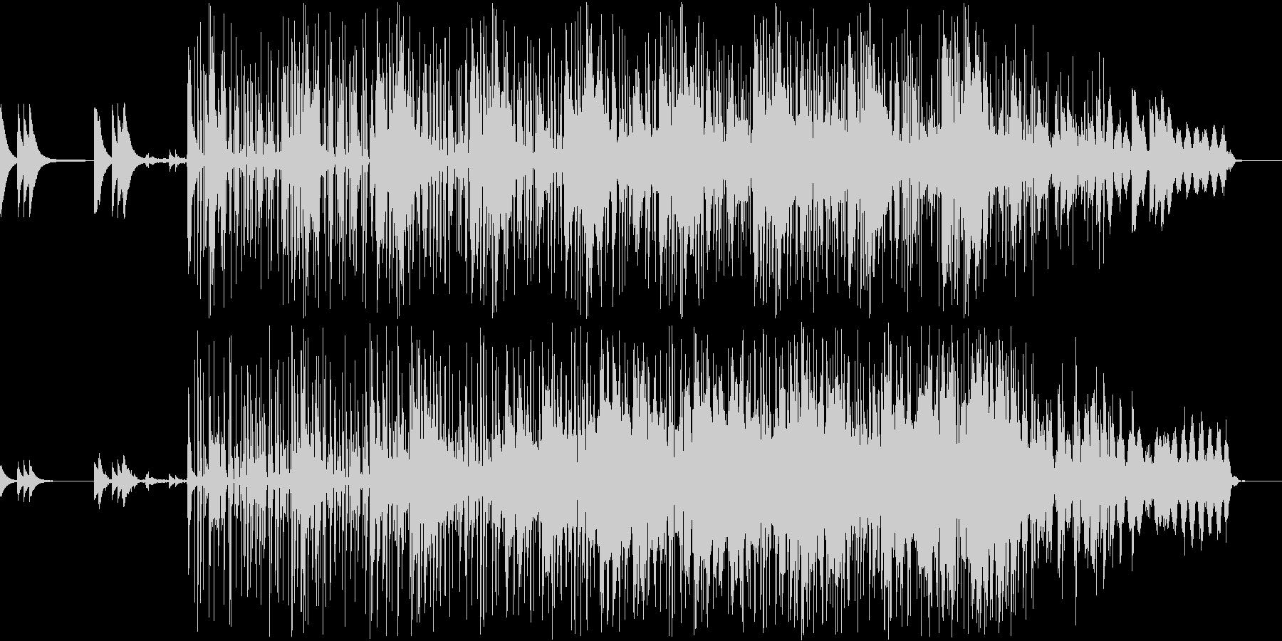 チープなギターとミニマムな空間BGMの未再生の波形