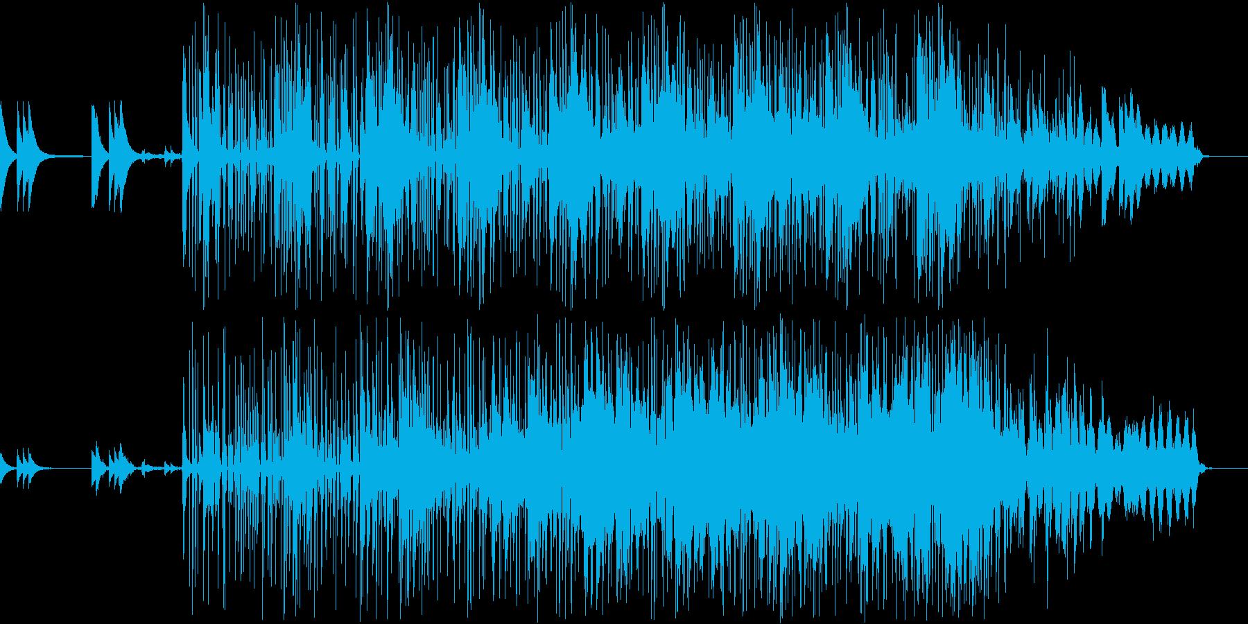 チープなギターとミニマムな空間BGMの再生済みの波形