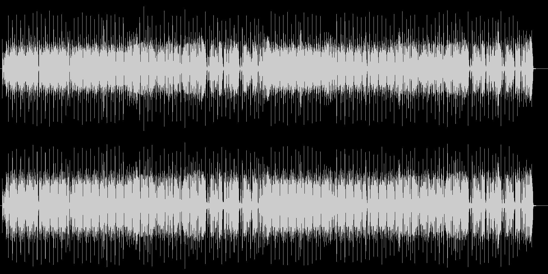 ドラムの重低音が効いた4つ打ちの曲の未再生の波形
