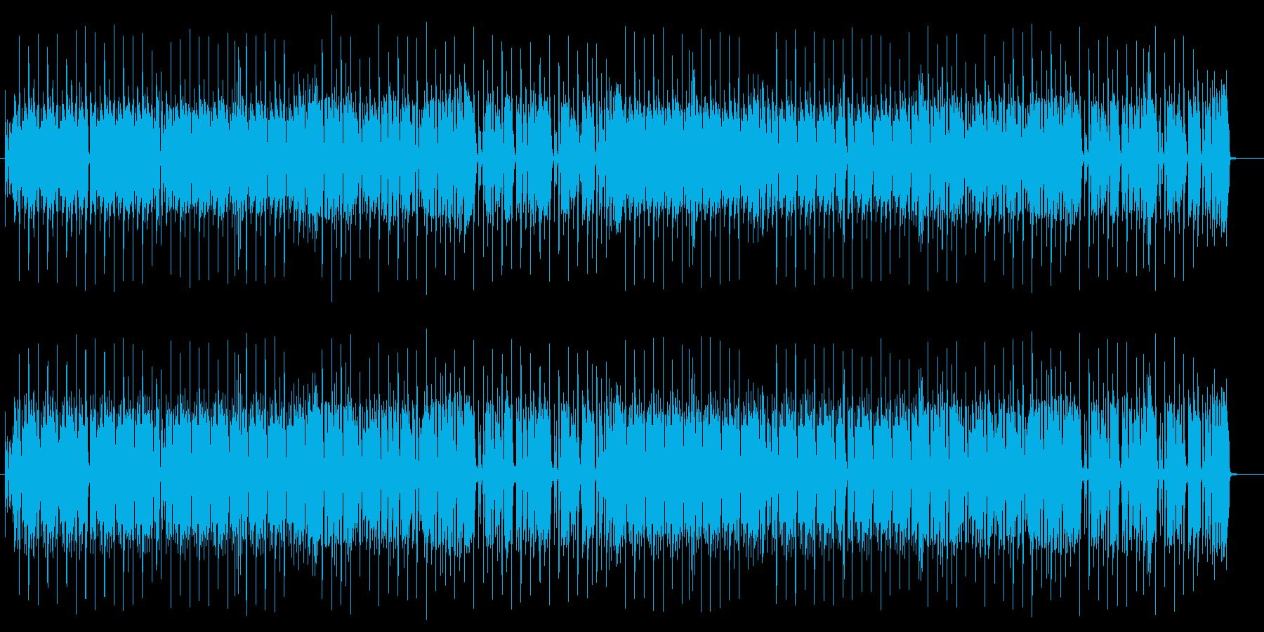 ドラムの重低音が効いた4つ打ちの曲の再生済みの波形