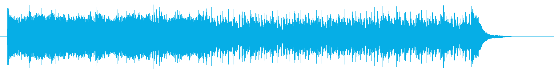 疾走感のあるゲーム音楽の再生済みの波形