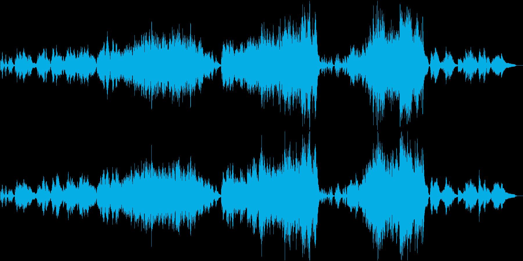 温かさ切なさ感動的なクラシカルバラードの再生済みの波形