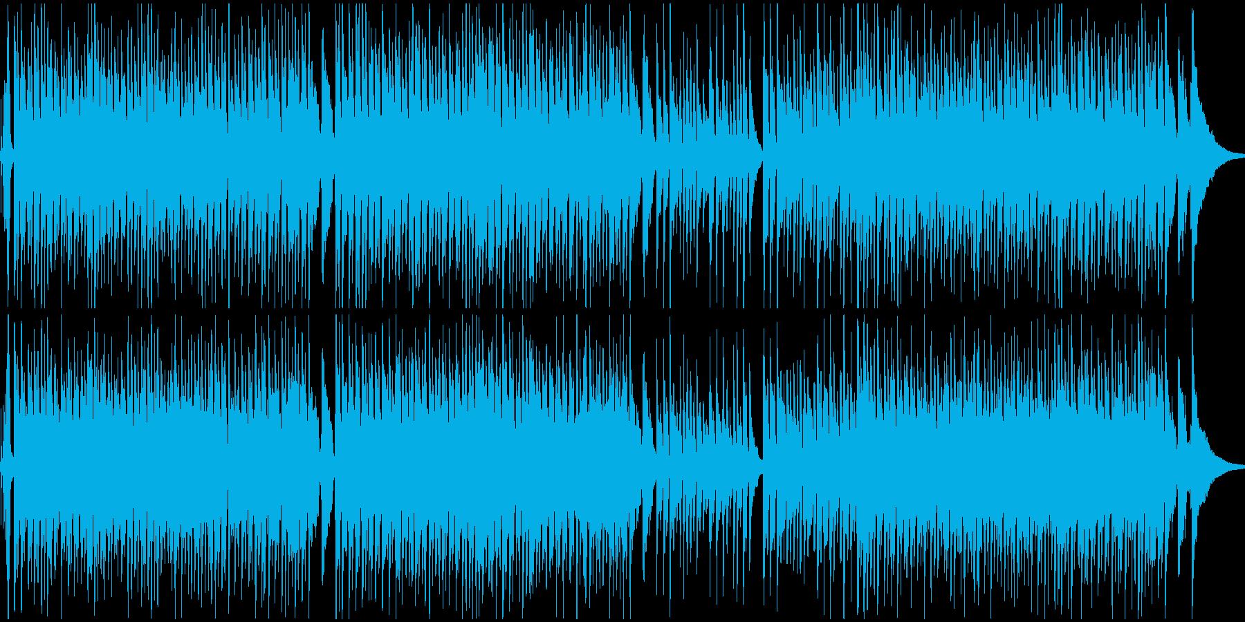 フレンドリーなアコースティック音楽の再生済みの波形