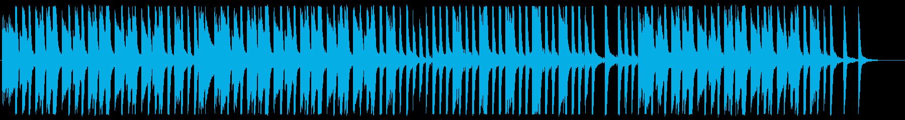 シンプル・軽快でかわいらしい平和なBGMの再生済みの波形