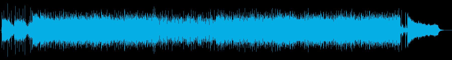 明るく透明感のある爽やかな曲の再生済みの波形