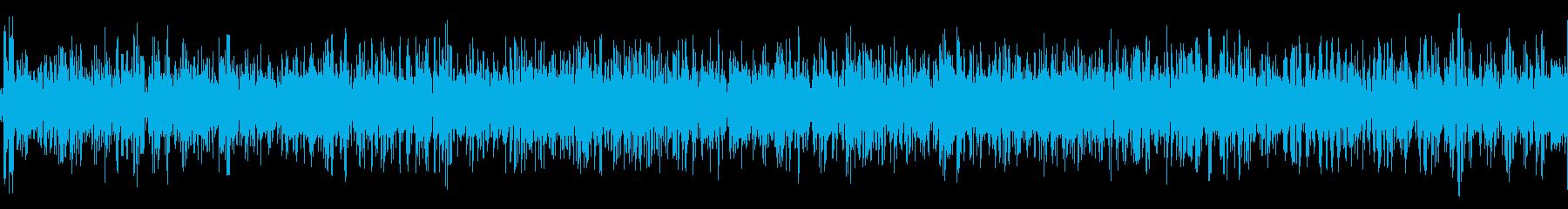 台風の中にいるかのような風の音の再生済みの波形
