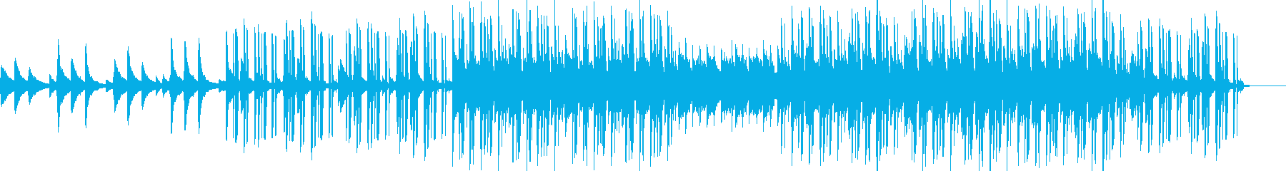 神秘的な雰囲気のヒップホップの再生済みの波形