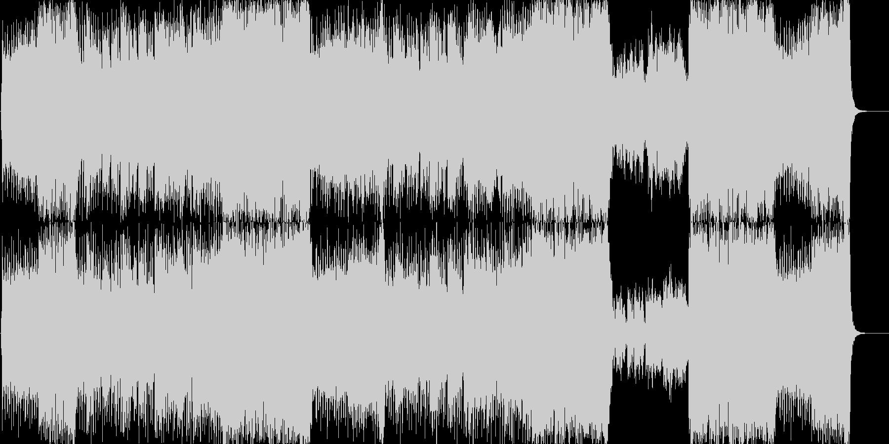 躍動感ある、和風ロックの歌ものの未再生の波形