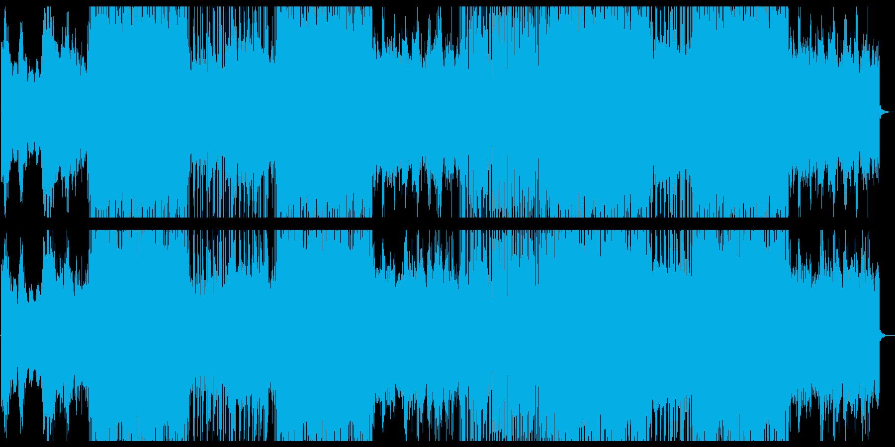 SF風幻想的ハイテクミュージックの再生済みの波形