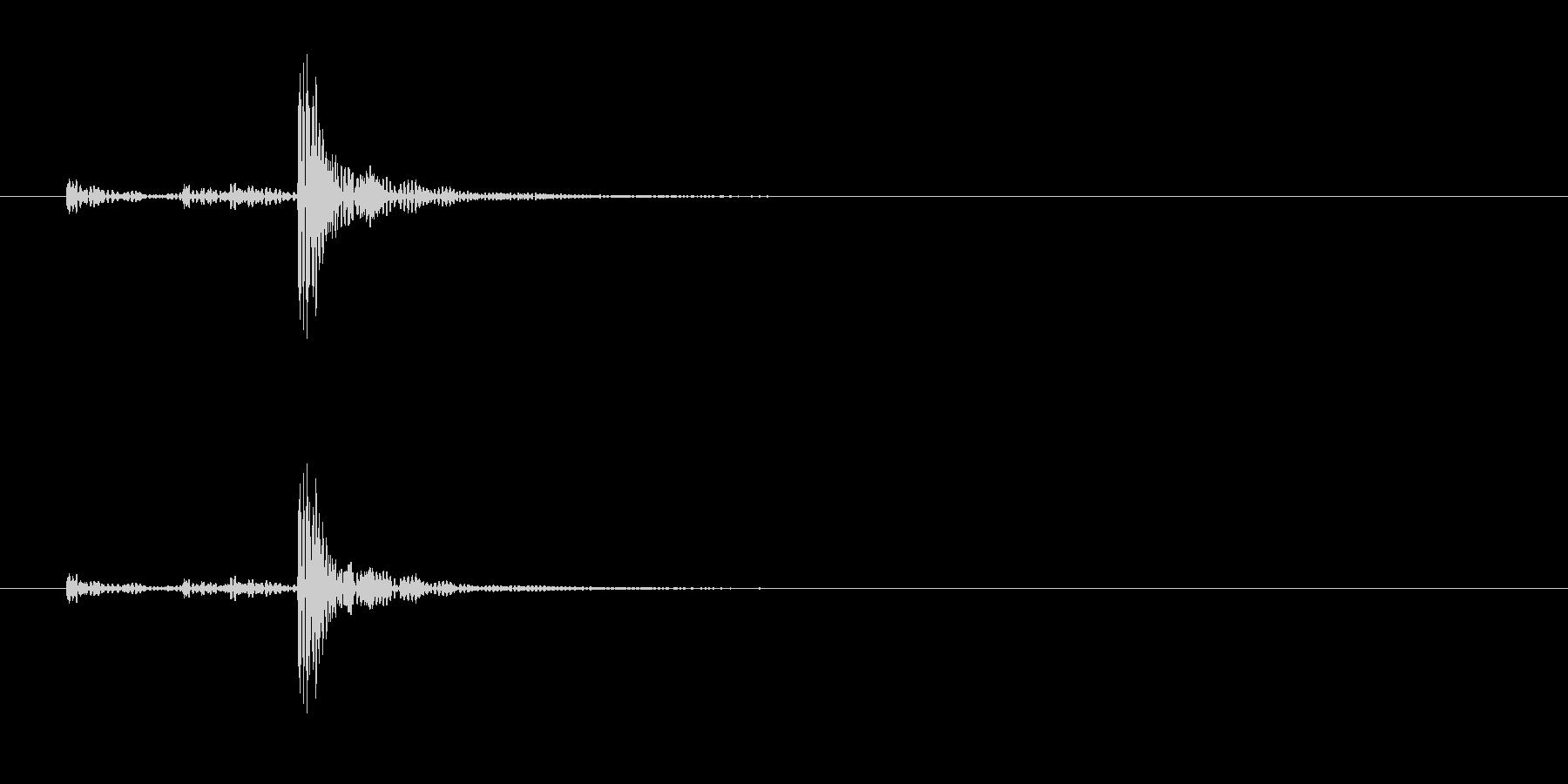 和太鼓の桶胴(おけどう)の単発音の未再生の波形
