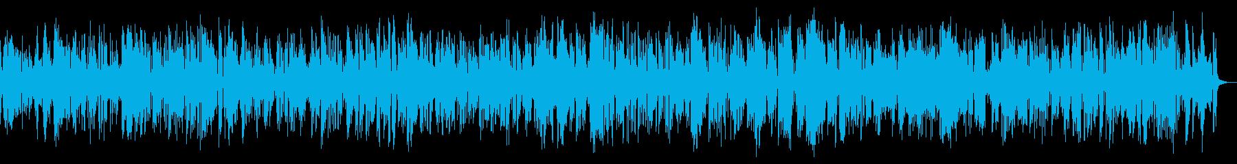 古いクラリネットのディキシーランドジャズの再生済みの波形
