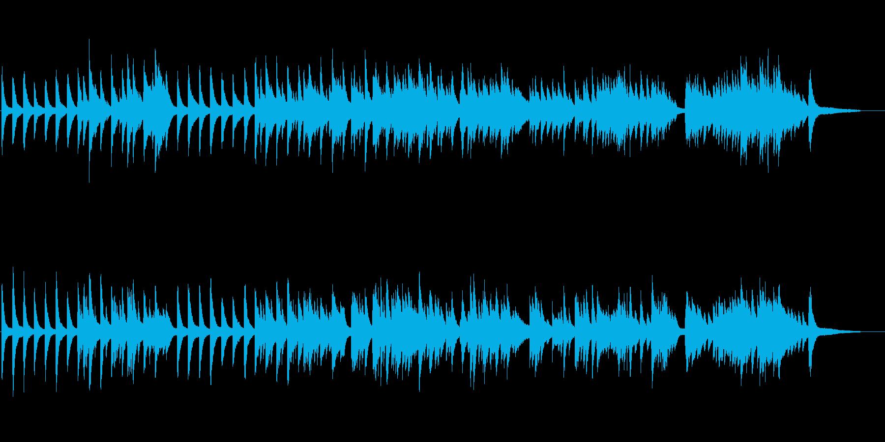 春の別れの雰囲気を表現したピアノ曲の再生済みの波形