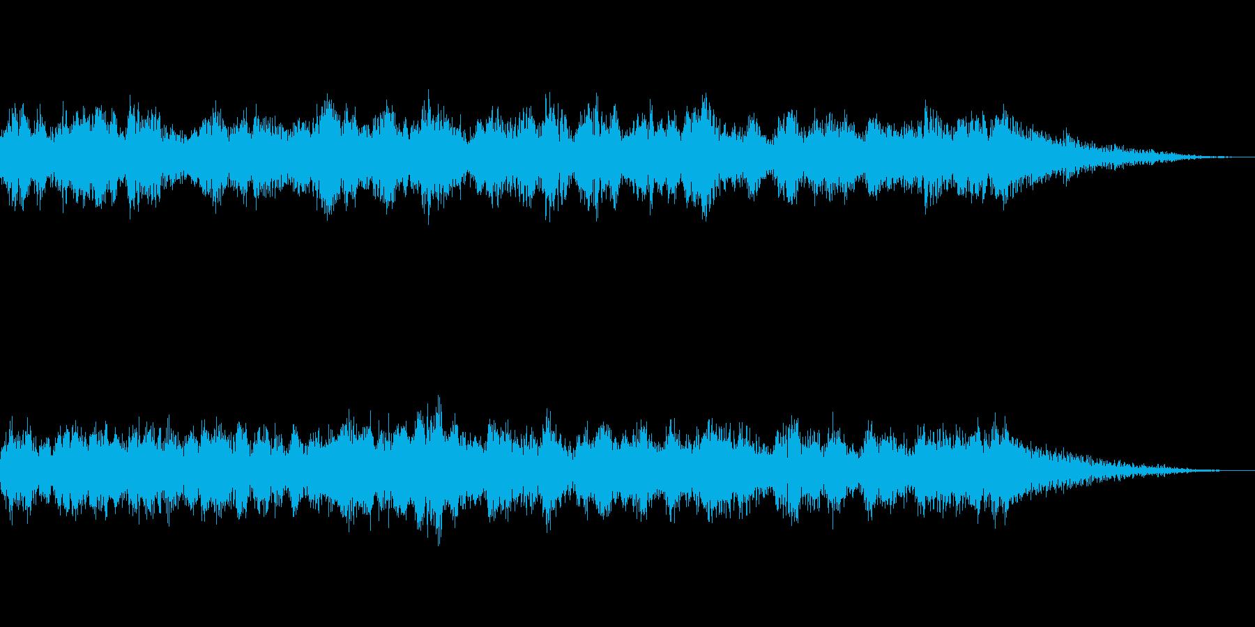映画向けの劇伴BGM(15秒)の再生済みの波形