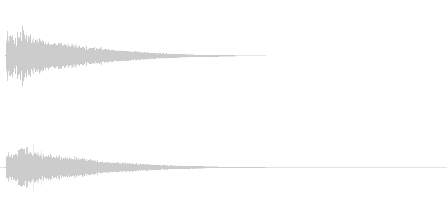 チャラ-の未再生の波形