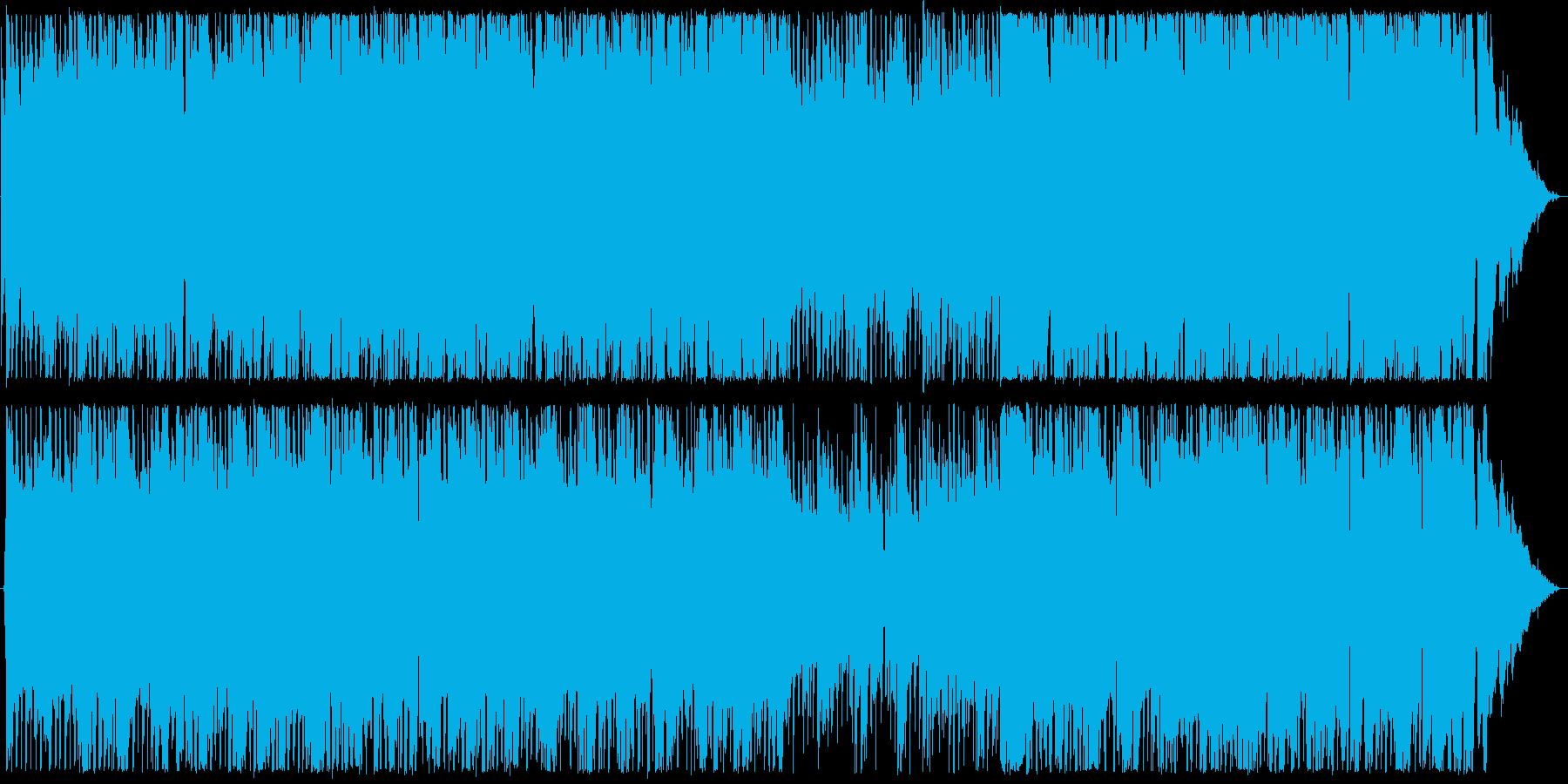 楽しげなギターサウンドの再生済みの波形