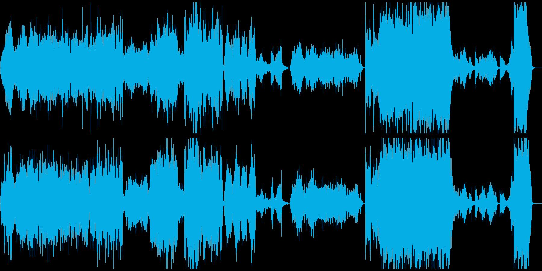 ファンタジーなピアノ協奏曲風オーケストラの再生済みの波形