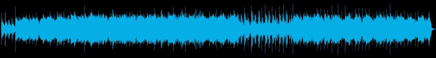透明感のある音色のアンビエント曲の再生済みの波形