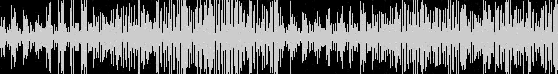 シンセベース音色が次々に変化するループ曲の未再生の波形