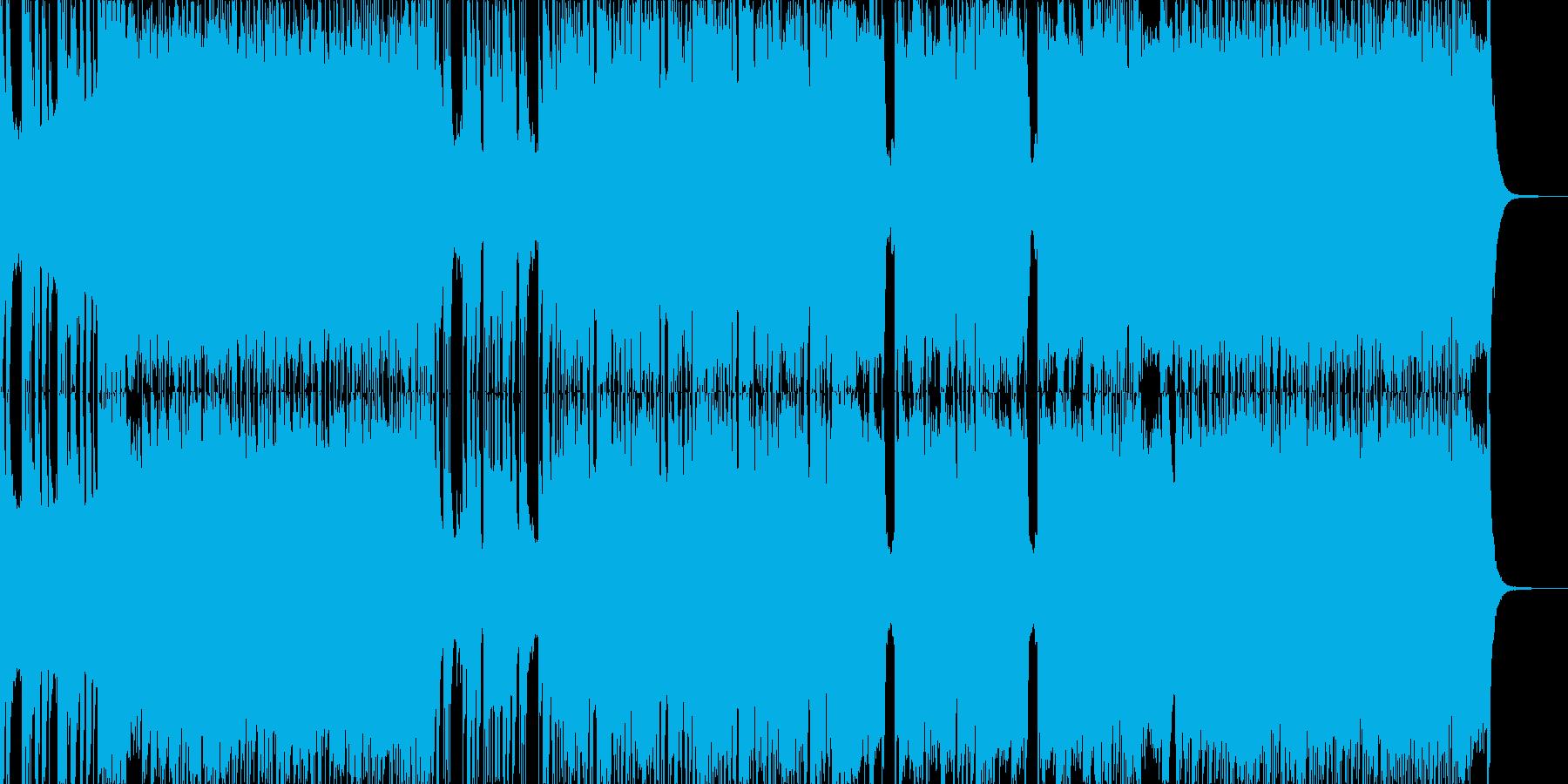 激しく近未来的なメタルの再生済みの波形