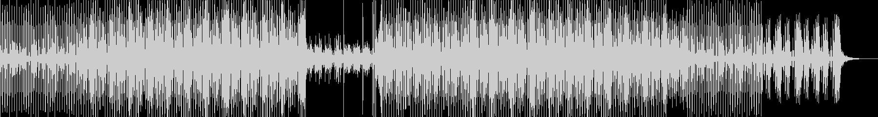 テクノポップミュージックの未再生の波形
