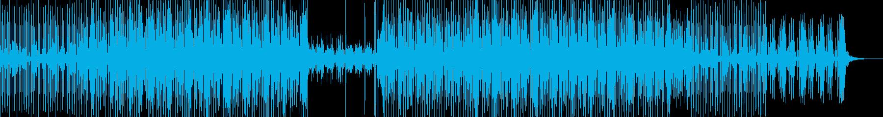 テクノポップミュージックの再生済みの波形